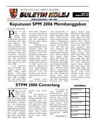 Buletin Kolej Edisi April 2007 - Jabatan Pelajaran Negeri Kedah