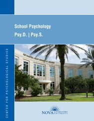 School Psychology Psy.D. - Center for Psychological Studies - Nova ...