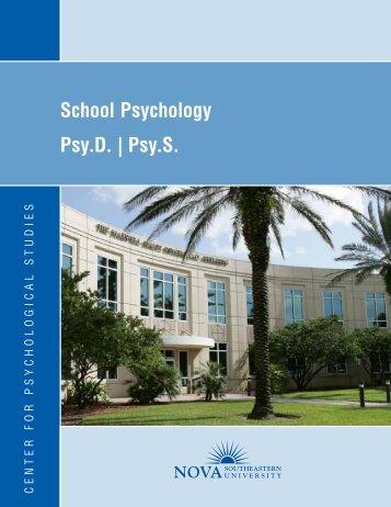 School Psychology Psy.D. - Center for Psychological Studies - Nova ...