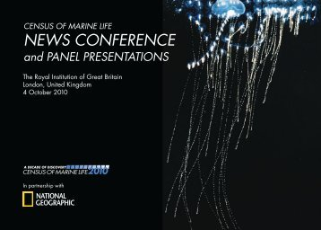 News Conference and Panel Presentations - Census of Marine Life