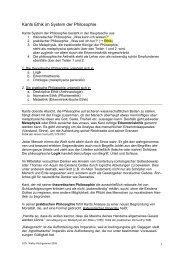 Kants Ethik im System der Philosophie - Walterkirchgessner.de