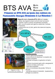 BTS AVA - Lycée Georges Brassens