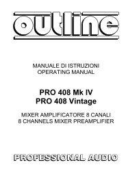 manuale Outline pro 408 vintage