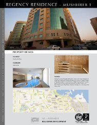 REGENCY RESIDENCE – I PROPERTY DETAILS - Al Asmakh Real ...