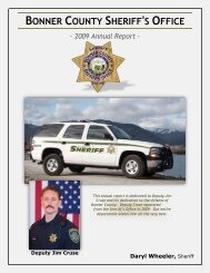 Bonner County Sheriff's Office 2009 Annual Report