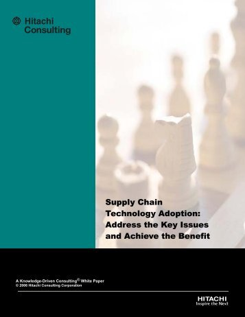 Supply Chain Technology Adoption: Address the Key Issues and ...