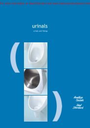 Urinals: urinals and fittings - Barbour Product Search