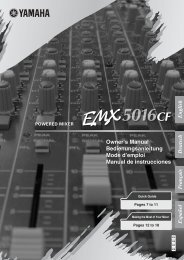 Yamaha EMX5016CF Powered Mixer Manual - American Musical ...