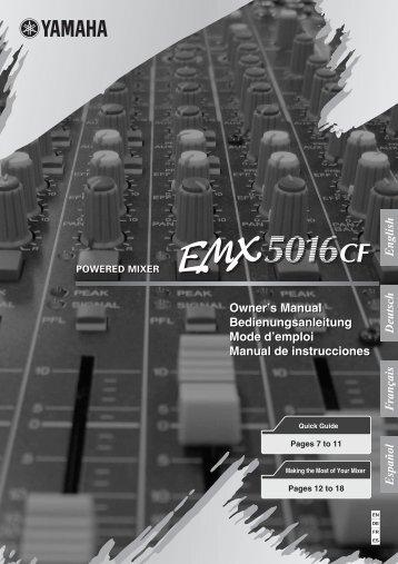 Yamaha EMX5016CF Powered Mixer Manual - American Musical ...