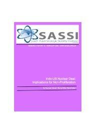 Indo-US Nuclear Deal -  [www.sassu.org.uk]