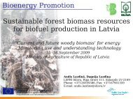 Sustainable forest biomass resources for biofuel production ... - Silava