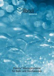 Poresta® Montagesysteme für Bade- und Duschwannen