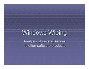 Windows Wiping-Secure Deletion Software Analysis
