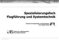 Spezialisierungsfach Flugführung und Systemtechnik