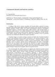 I fondamenti filosofici dell'attività scientifica - Inters.org