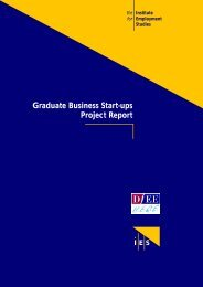 Graduate Business Start-ups Project Report - The Institute for ...