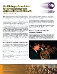 Con Música para transeúntes, la OFB celebra los 190 años del ...