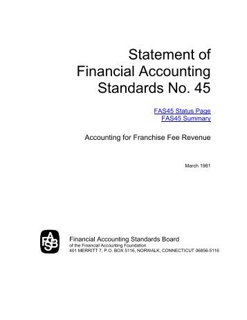 Statement of Financial Accounting Standards No. 45 - Paper Audit ...