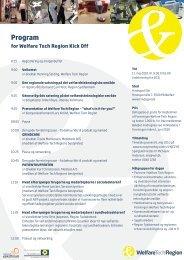 program for dagen - Welfare Tech