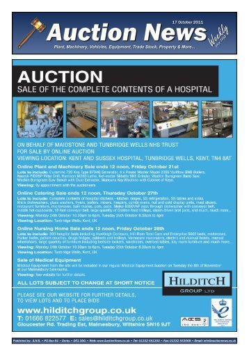 Auction News Oct 17 11 - Auction News Services