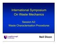 Waste characterization procedures - Symposium on Waste Mechanics