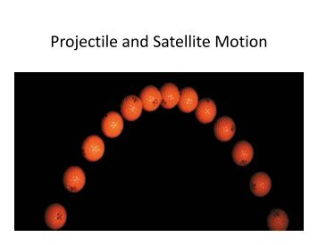Projectile and Satellite Motion - Fgamedia.org