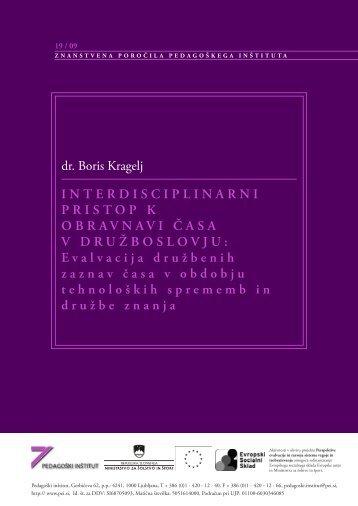 Interdisciplinarni pristop k obravnavi časa v ... - Pedagoški inštitut