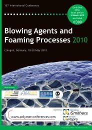 Blowing Agents and Foaming Processes 2010 - Smithers Rapra