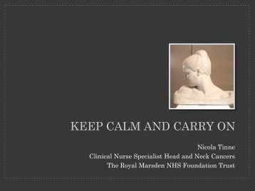 Nicola Tinne - Royal Marsden Hospital