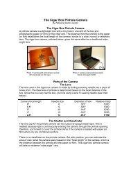 The Cigar Box Pinhole Camera