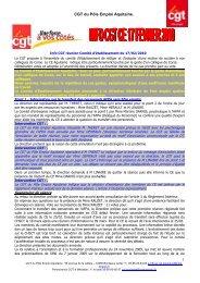 CGT du Pôle Emploi Aquitaine. 1 - CGT AFPA