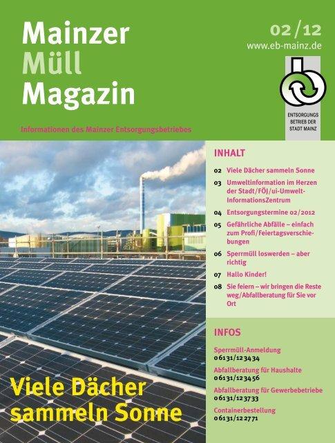 MMM Ausgabe 2/2012 - Entsorgungsbetrieb der Stadt Mainz