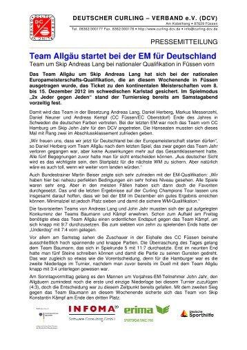 Team Allgäu startet bei der EM für Deutschland