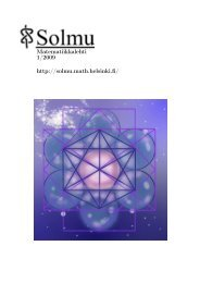 pdf-muodossa - Matematiikkalehti Solmu - Helsinki.fi