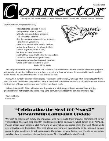 Celebrating the Next 100 Years!! - First United Methodist Church