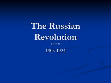 Lesson 46 russian revolution russian revolution powerpoint presentation pdf toneelgroepblik Image collections