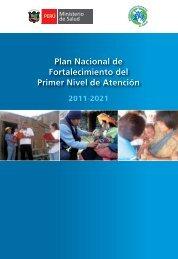 Plan Nacional de Fortalecimiento del Primer ... - Bvs.minsa.gob.pe