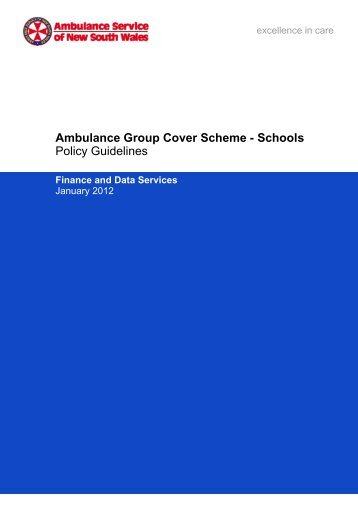 Ambulance Group Cover Scheme - Schools Policy Guidelines