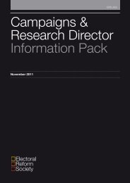 Campaigns & Research Director Information Pack - Electoral Reform ...