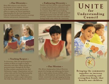 Unite for Understanding Council - Klein Independent School District