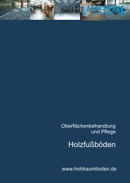 Bodenbelag - Pflege Parkett - Laskowski Systemboden GmbH