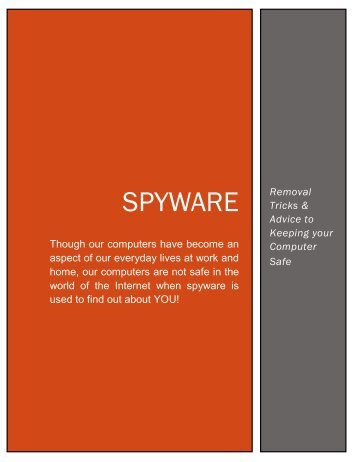 Spyware Removal Tricks and Advice - Online Traffic > Info Site