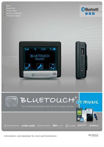 Information- and datasheet for retail and distribution. - BlueTouch