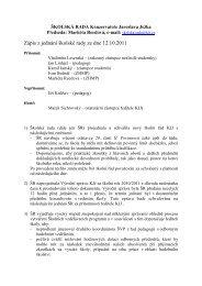 Zápis z jednání školské rady ze dne 12.10.2011