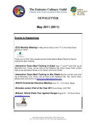 The Emirates Culinary Guild NEWSLETTER May 2011 (0511)