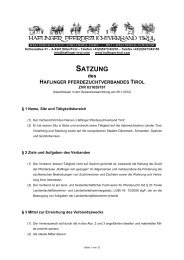 SATZUNG - Haflinger Tirol
