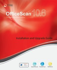 Officescan 10.6 Installation and Upgrade Guide - Trend Micro ...