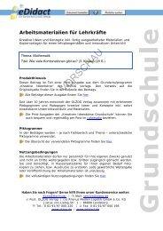Arbeitsmaterialien Grundschule - Wie viele ... - bei eDidact