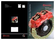 Brembo GT Tech - Competition Braking Products