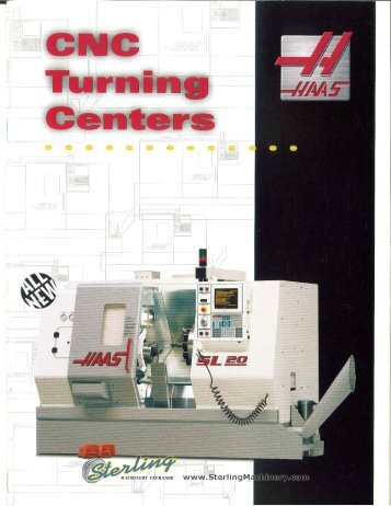 Haas CNC Turning Centers Brochure - Sterling Machinery